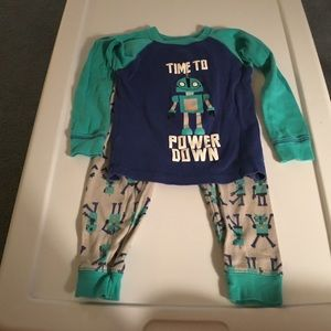 """Carter's Boys """"Time to Power Down"""" PJ's. Size 2T."""